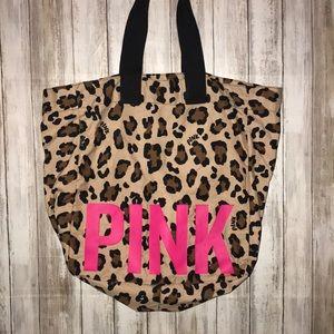 💓🖤PINK Leopard Victoria's Secrets Tote Bag